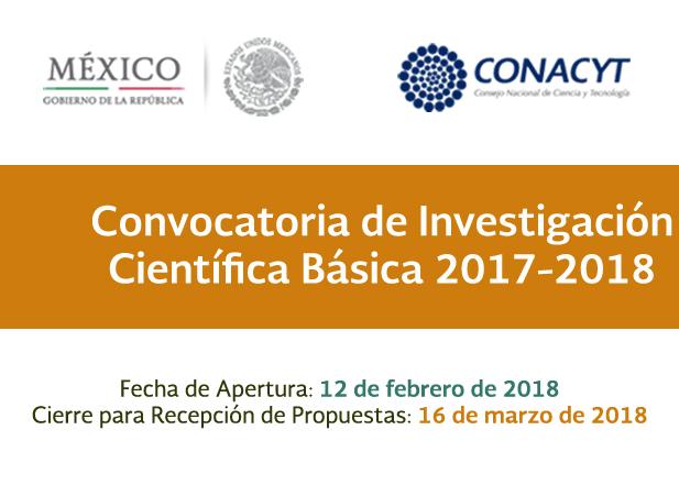 Convocatoria de Investigación Científica Básica 2017-2018